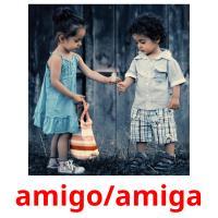 amigo/amiga picture flashcards