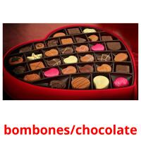 bombones/chocolate picture flashcards