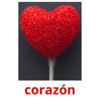 corazón picture flashcards