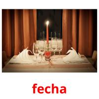 fecha picture flashcards