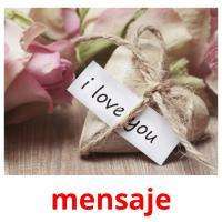 mensaje picture flashcards