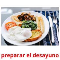 preparar el desayuno picture flashcards