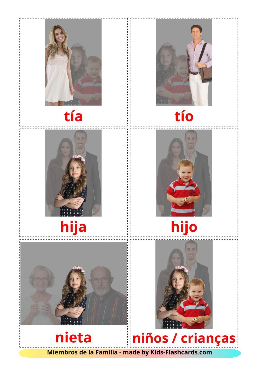 Family members - 32 Free Printable spanish Flashcards
