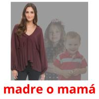 madre o mamá picture flashcards