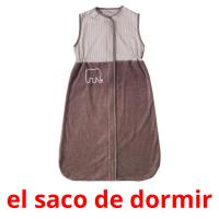 el saco de dormir picture flashcards