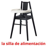 la silla de alimentación picture flashcards