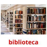 biblioteca picture flashcards