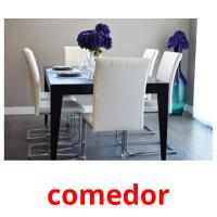 comedor picture flashcards