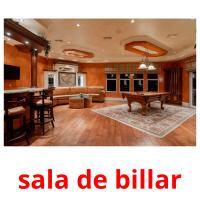 sala de billar picture flashcards