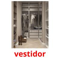 vestidor picture flashcards