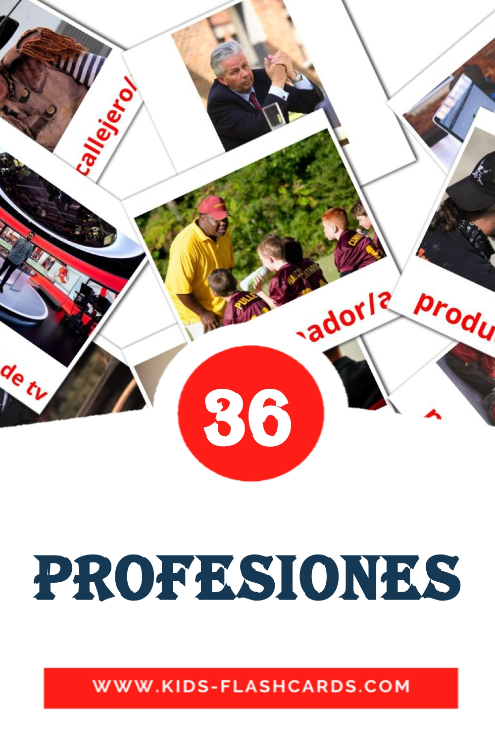 36 Profesiones Picture Cards for Kindergarden in spanish