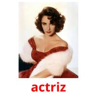actriz picture flashcards