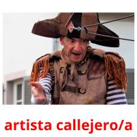 artista callejero/a picture flashcards