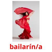bailarín/a picture flashcards
