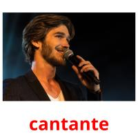 cantante picture flashcards