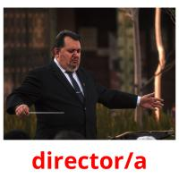 director/a picture flashcards