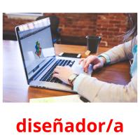 diseñador/a picture flashcards