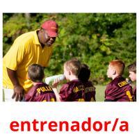 entrenador/a picture flashcards
