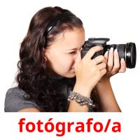 fotógrafo/a picture flashcards