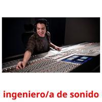 ingeniero/a de sonido picture flashcards