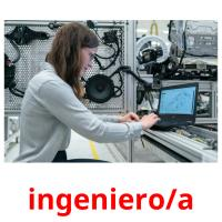 ingeniero/a picture flashcards