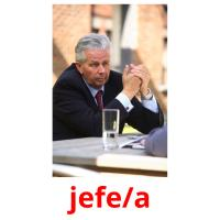 jefe/a picture flashcards