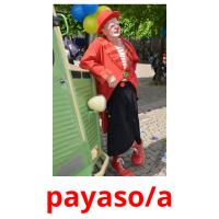 payaso/a picture flashcards