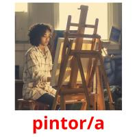 pintor/a picture flashcards