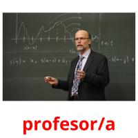 profesor/a picture flashcards