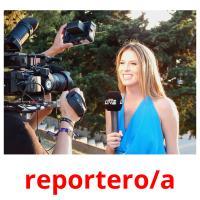 reportero/a picture flashcards