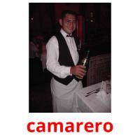 camarero picture flashcards