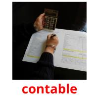 contable picture flashcards