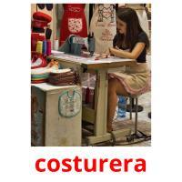 costurera picture flashcards