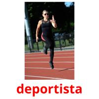 deportista picture flashcards
