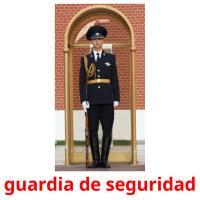 guardia de seguridad picture flashcards