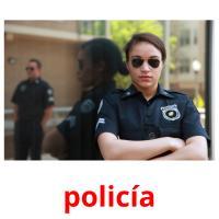 policía picture flashcards