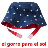el gorro para el sol picture flashcards