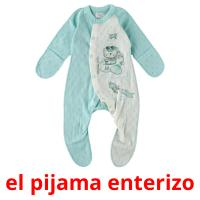 el pijama enterizo picture flashcards