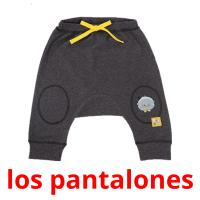 los pantalones picture flashcards