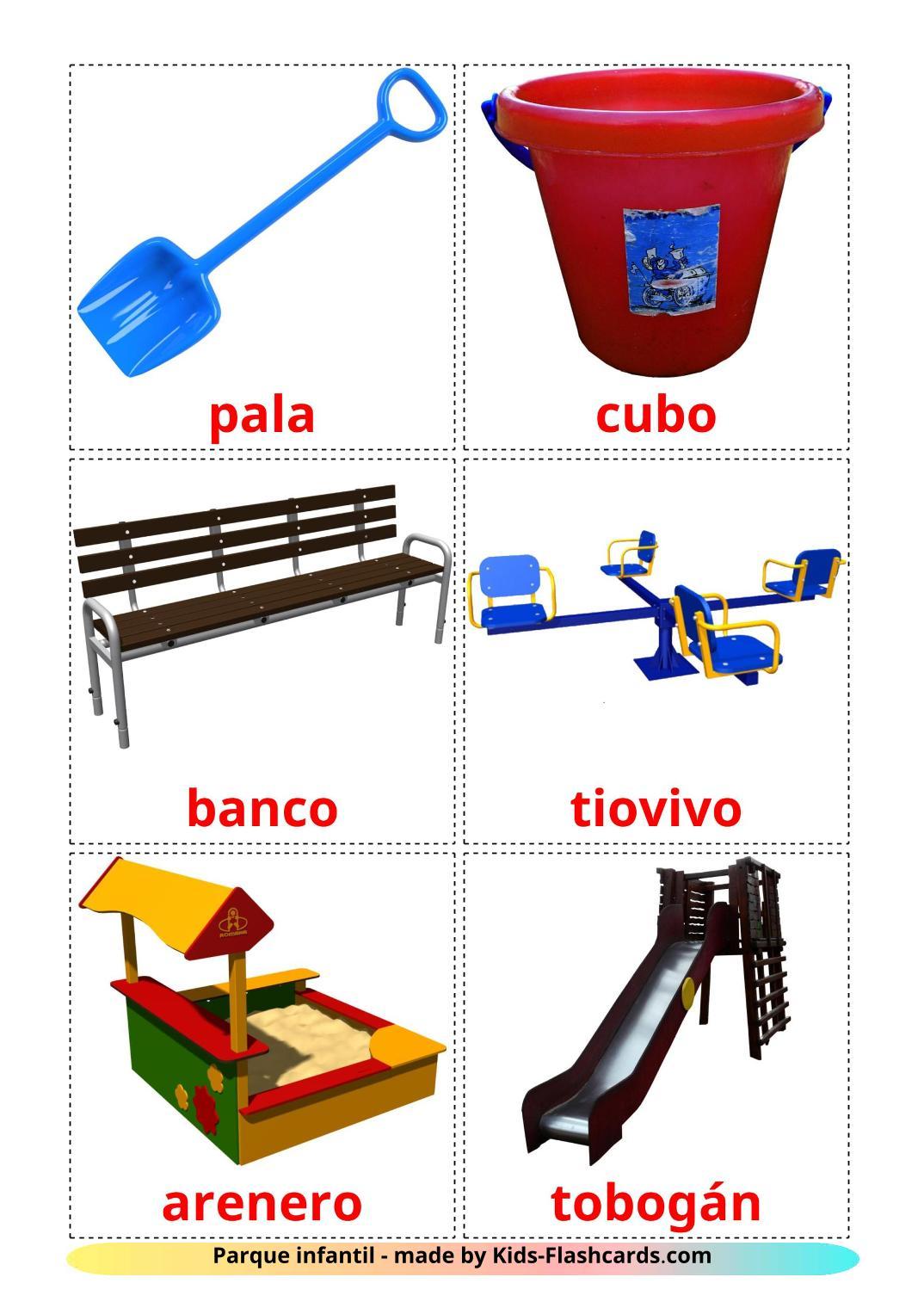 Playground - 13 Free Printable spanish Flashcards