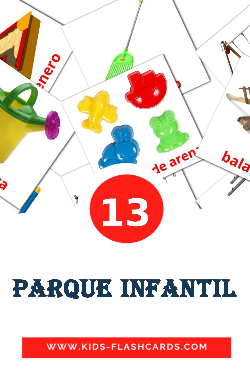 13 Parque infantil Picture Cards for Kindergarden in spanish