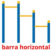 barra horizontal picture flashcards