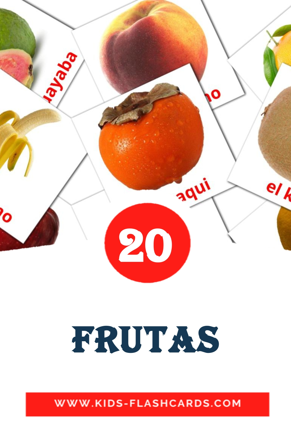 20 Frutas  Picture Cards for Kindergarden in spanish