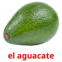 el aguacate picture flashcards