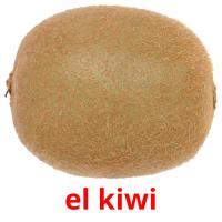 el kiwi picture flashcards