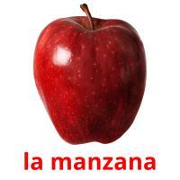 la manzana picture flashcards