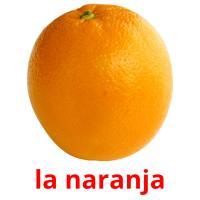 la naranja picture flashcards