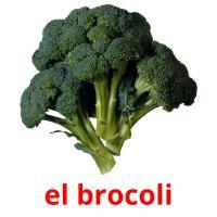 el brocoli picture flashcards