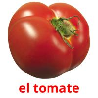 el tomate picture flashcards