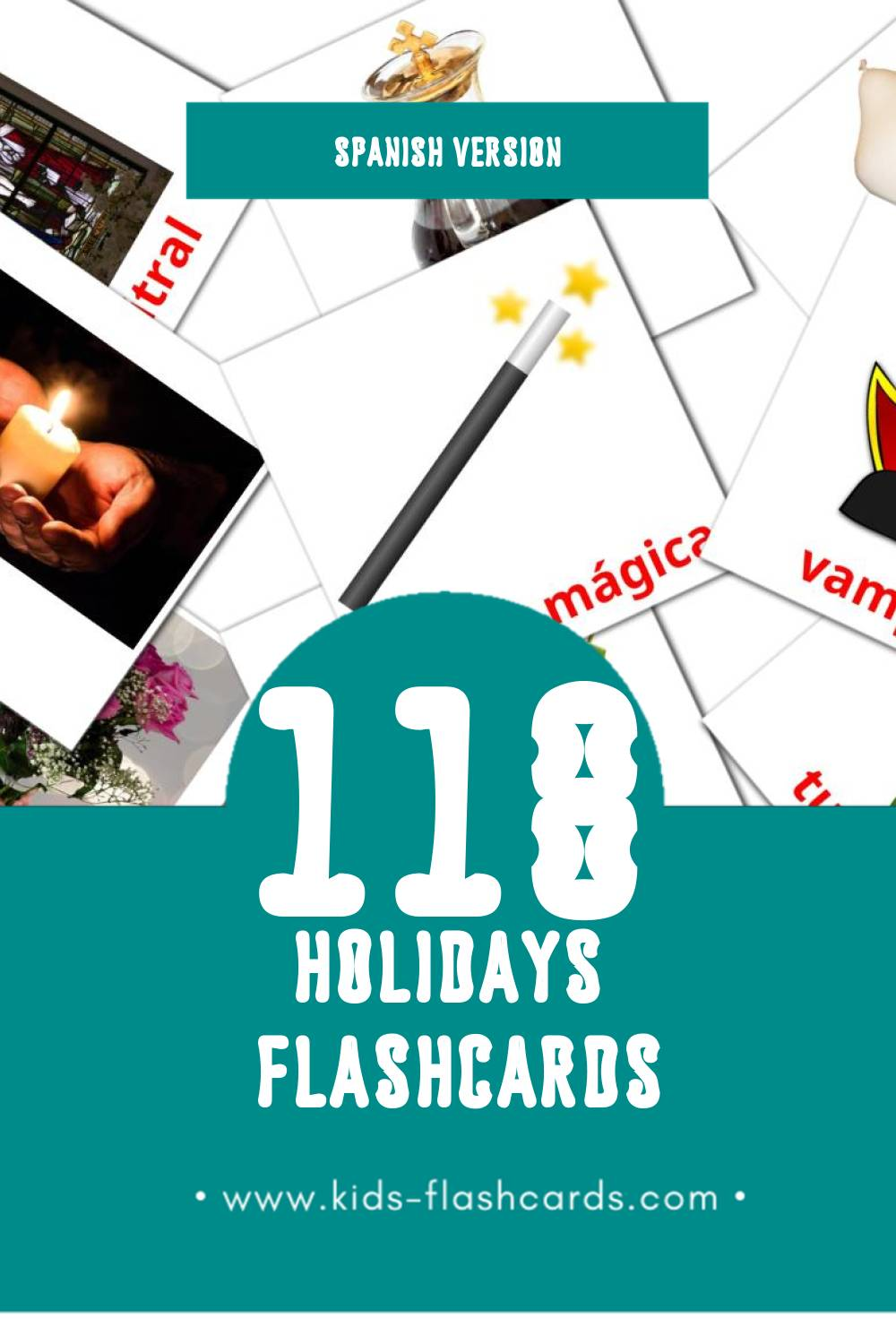 Visual Vacaciones Flashcards for Toddlers (69 cards in Spanish)